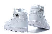 "Кожаные кроссовки Air Jordan 1 Retro ""All White"" (36-46), фото 7"