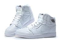"Кожаные кроссовки Air Jordan 1 Retro ""All White"" (36-46), фото 3"