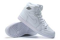 "Кожаные кроссовки Air Jordan 1 Retro ""All White"" (36-46), фото 4"