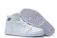 "Кожаные кроссовки Air Jordan 1 Retro ""All White"" (36-46), фото 2"