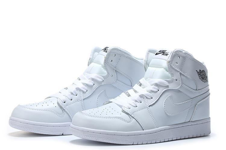 "Кожаные кроссовки Air Jordan 1 Retro ""All White"" (36-46)"