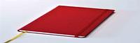 Блокнот Delhi, в точку,13*21, цвет красный