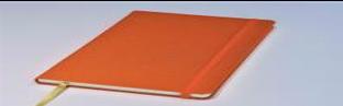 Блокнот Delhi, в точку,13*21, цвет оранжевый