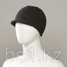 Barron Textured Knit Beanie With Soft Visor