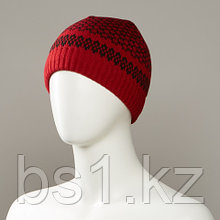 Floor Jacquard Cuff Knit Hat
