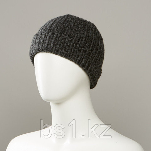 Grunge Textured Cuff Knit Hat