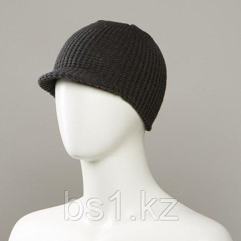 Barron Textured Knit Beanie With Soft Visor