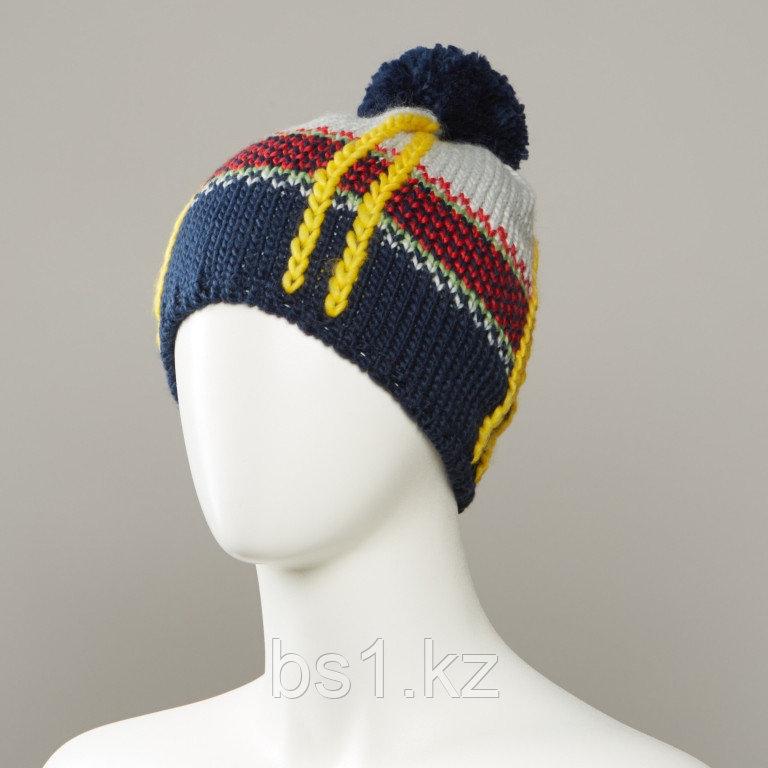 Dutch Textured Jacquard Hat With Pom