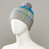 Dutch Textured Jacquard Hat With Pom, фото 2