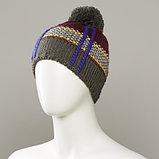 Dutch Textured Jacquard Hat With Pom, фото 3