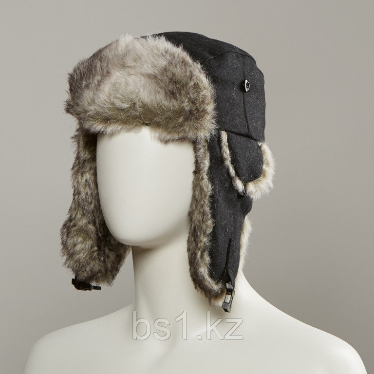 Dylon Trapper Hat With Faux Fur Lining