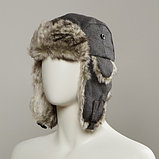 Dylon Trapper Hat With Faux Fur Lining, фото 3