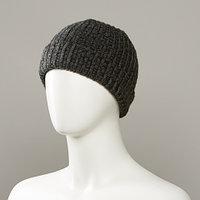 Grunge Textured Cuff Knit Hat