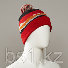 Doppio Printed Hat With Pom