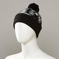 Major Jacquard Cuff Hat With Pom