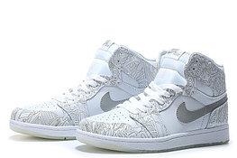 """Кожаные кроссовки Air Jordan 1 Retro """"Laser"""" (40-46)"""