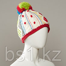 Inez Textured Cable Knit Hat With Pom