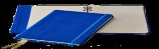 Блокнот Gardena, в линейку со скрытой пружиной, 12,6*21, цвет васильковый