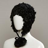 Azyre Real Fur Peruvian With Genuine Fur Pom Tie Cords, фото 4