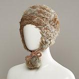 Azyre Real Fur Peruvian With Genuine Fur Pom Tie Cords, фото 5
