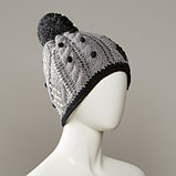 Inez Textured Cable Knit Hat With Pom, фото 2