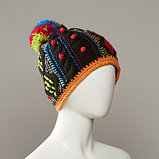 Inez Textured Cable Knit Hat With Pom, фото 3