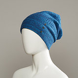 Wren Textured Slouch Beanie With Buttons, фото 2