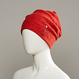 Wren Textured Slouch Beanie With Buttons, фото 3