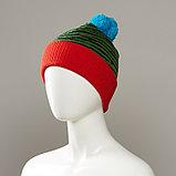 Brave Cuffed Knit Hat With Pom, фото 2
