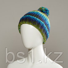 Ditto Space Dyed Yarn Knit Hat With Pom