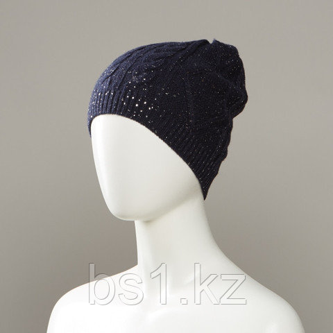 Cell Bejeweled Textured Knit Hat