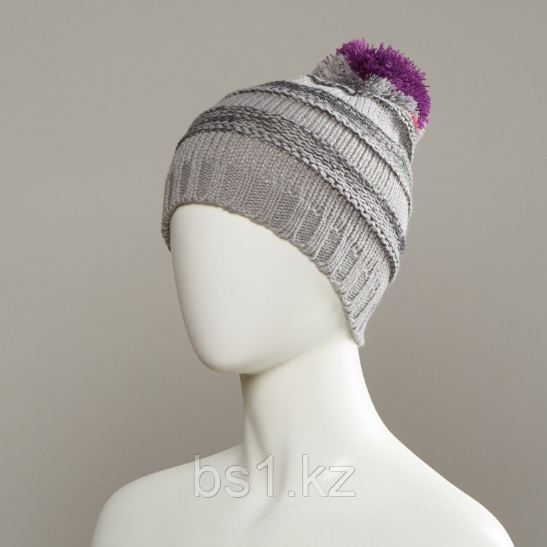 Change Textured Knit Hat With Pom