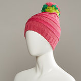 Change Textured Knit Hat With Pom, фото 2