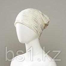 Foil Knit Beanie With Foil Print
