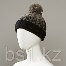 Blossom Textured Cuff Knit Hat With Pom