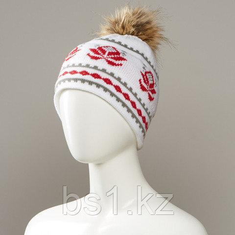 Grow Knit Hat With Faux Fur Pom