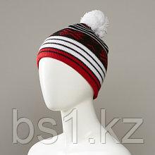 Cliff Stripe Hat With Pom