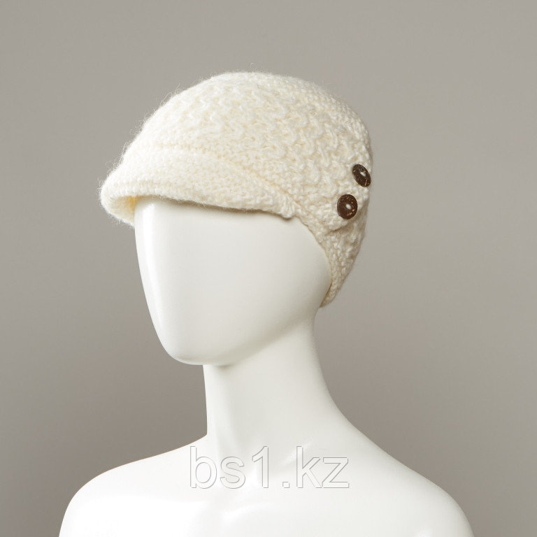 Hone Textured Soft Brimmed Visor Hat With Buttons