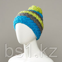 Holiday Stripe Textured Knit Hat With Pom