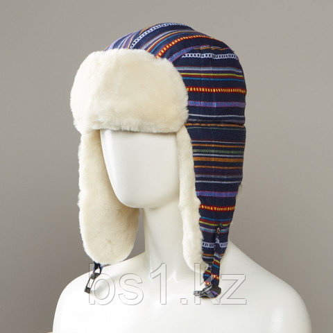 Layton Tribal Design Trapper With Faux Fur Lining