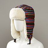 Layton Tribal Design Trapper With Faux Fur Lining, фото 2