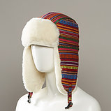 Layton Tribal Design Trapper With Faux Fur Lining, фото 3