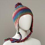Pinsir Space Dyed Yarn Knit Peruvian With Pom, фото 3