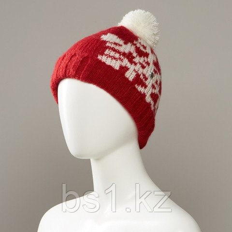 Avenue Snowflake Print Textured Cuff Knit Hat