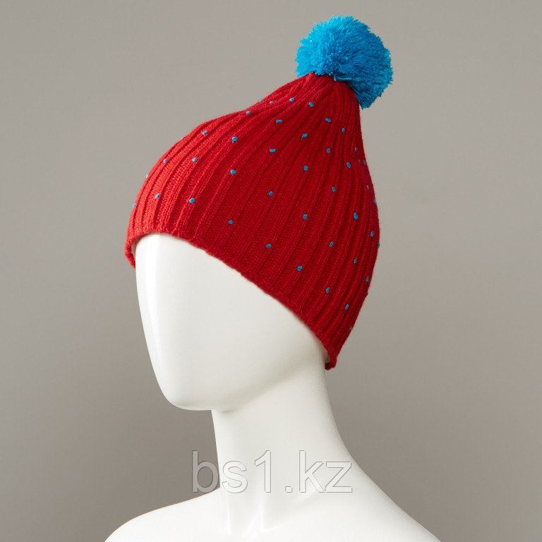 Cavern Speckled Textured Knit Hat With Pom