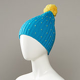 Cavern Speckled Textured Knit Hat With Pom, фото 3