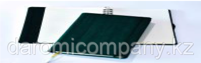 Блокнот Gardena, в линейку со скрытой пружиной, 12,6*21, цвет зеленый