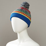 Corlsbud Jacquard Cuff Knit Hat With Pom, фото 2