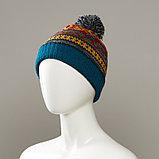 Corlsbud Jacquard Cuff Knit Hat With Pom, фото 3