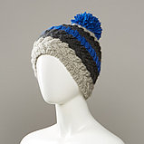 Holiday Stripe Textured Knit Hat With Pom, фото 3